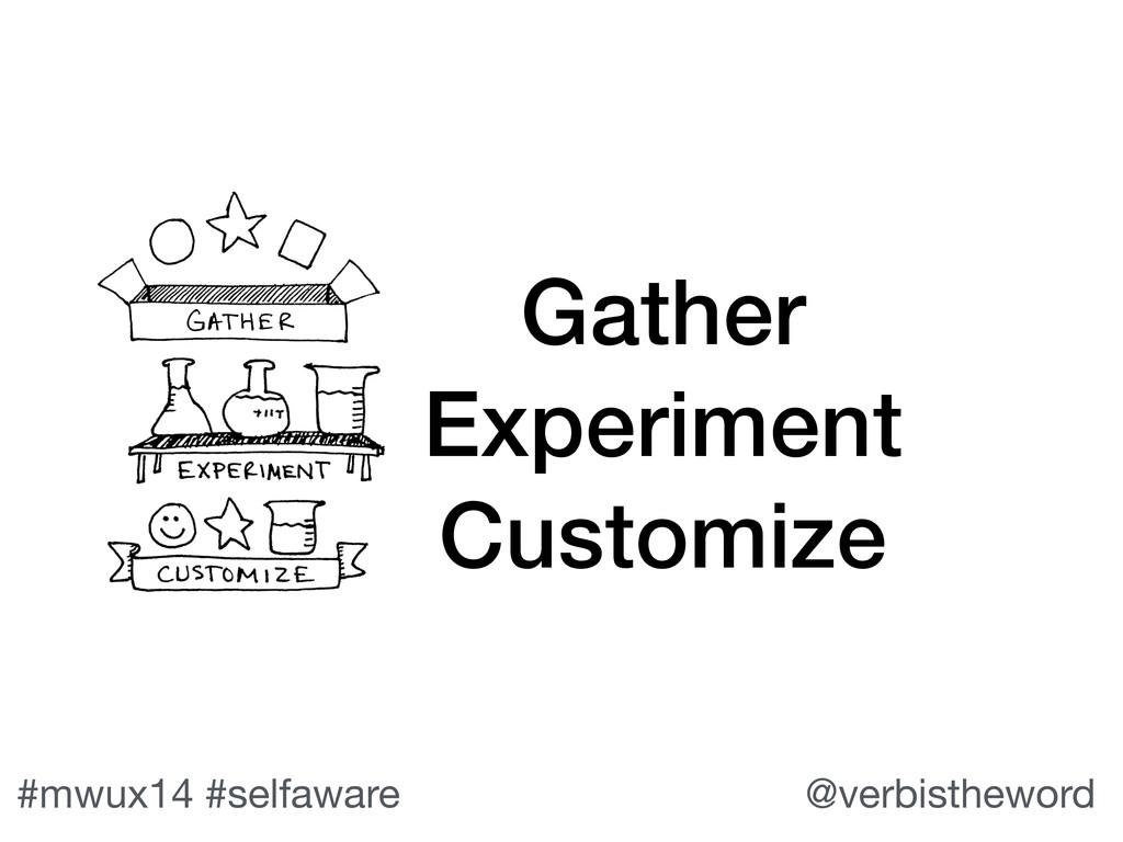 #mwux14 #selfaware @verbistheword Gather Experi...