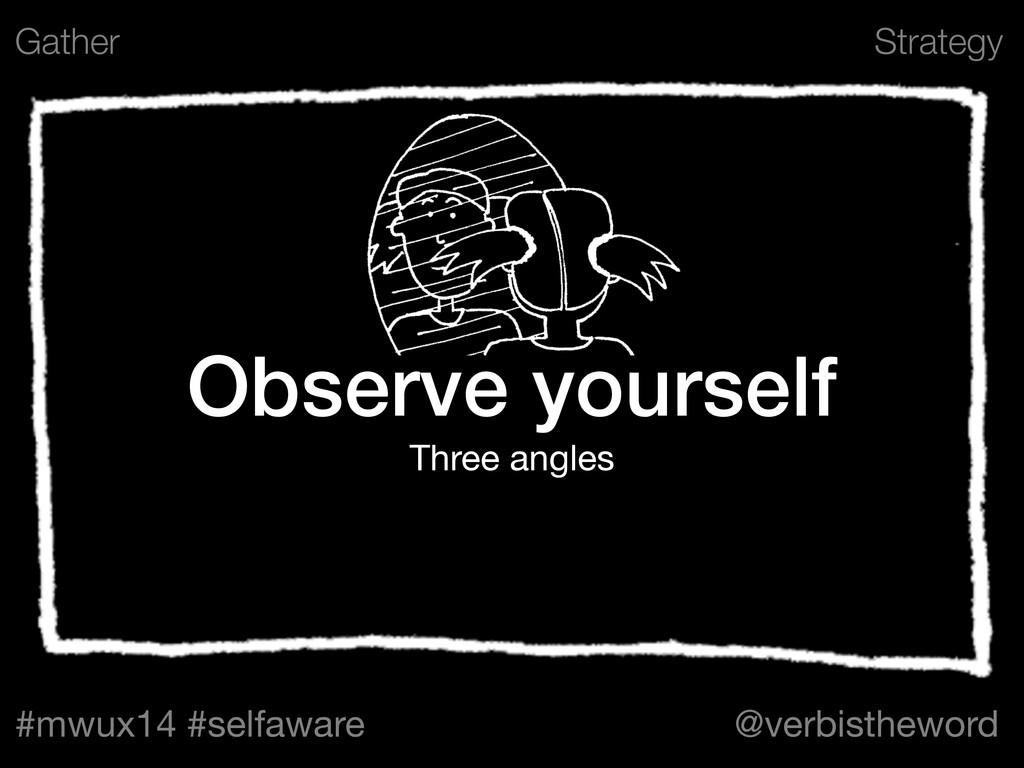 Strategy #mwux14 #selfaware @verbistheword ! Ob...