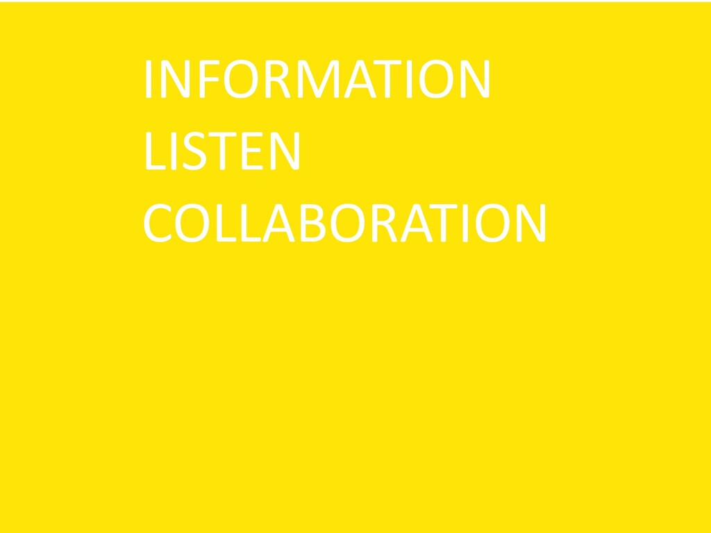 INFORMATION LISTEN COLLABORATION