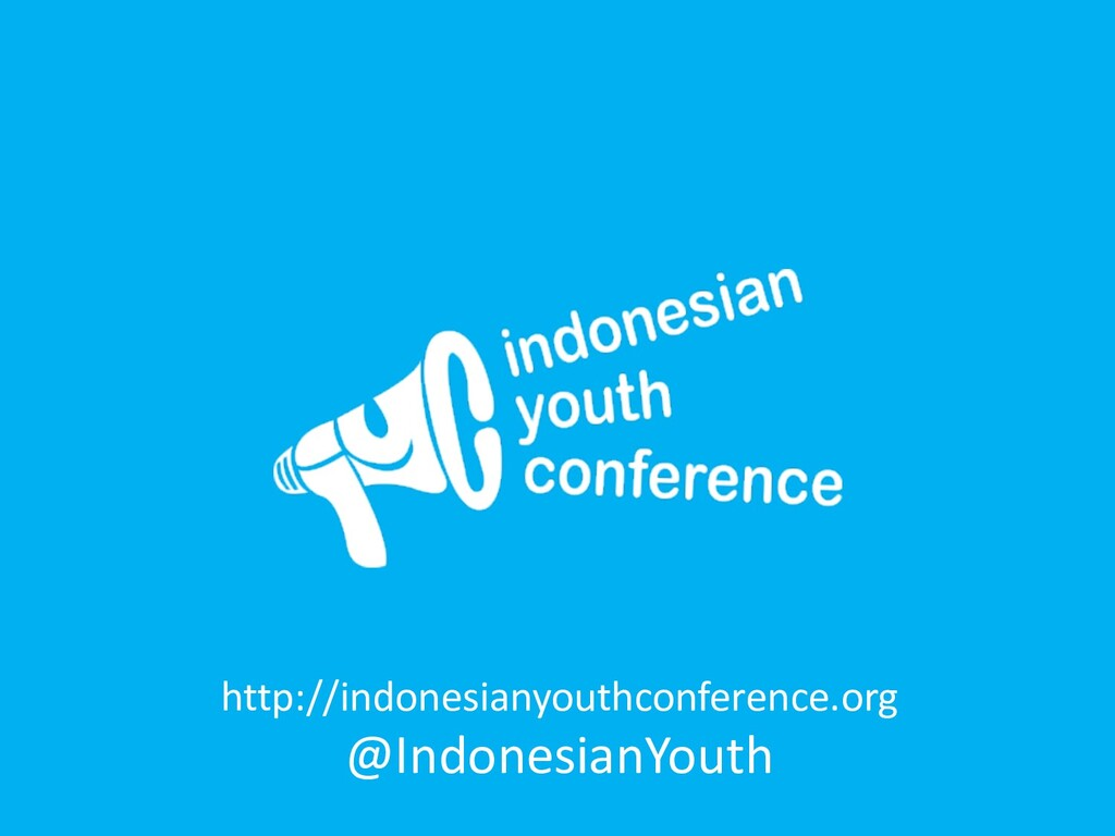 http://indonesianyouthconference.org @Indonesia...