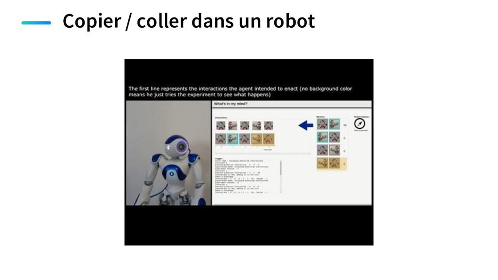 Copier / coller dans un robot