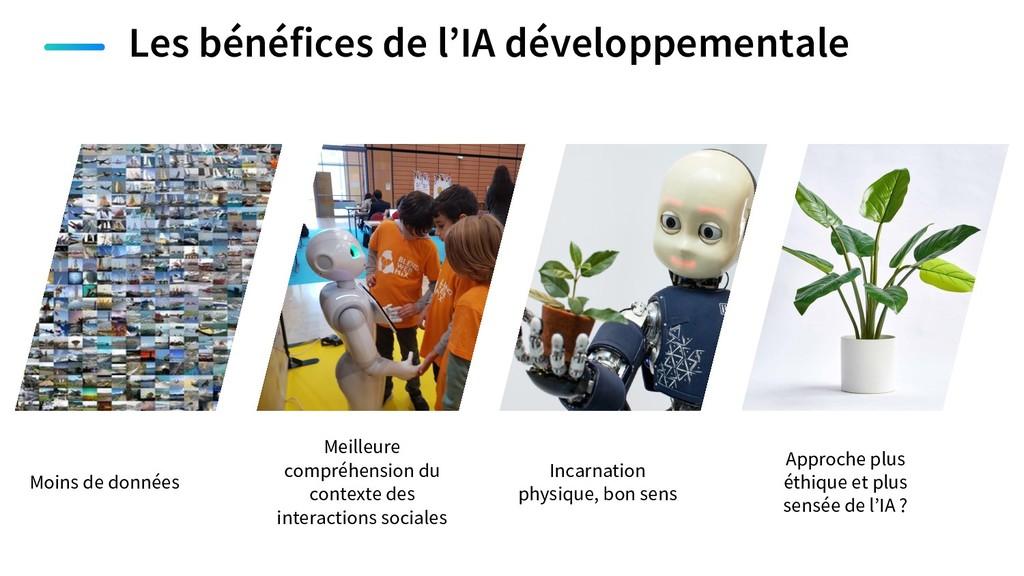 Les bénéfices de l'IA développementale Moins de...