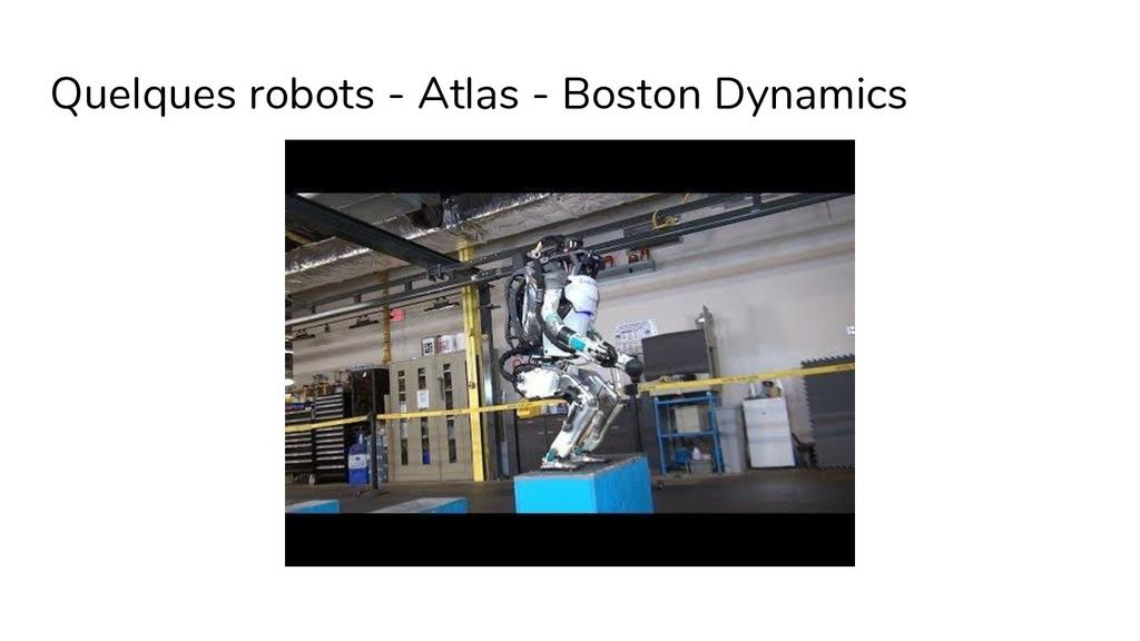 Quelques robots - Atlas - Boston Dynamics