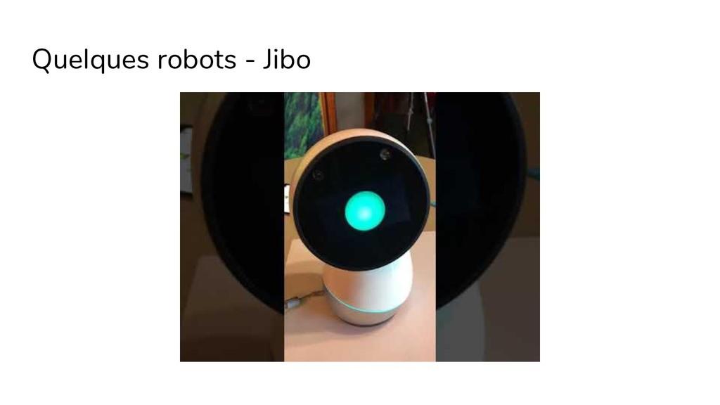 Quelques robots - Jibo
