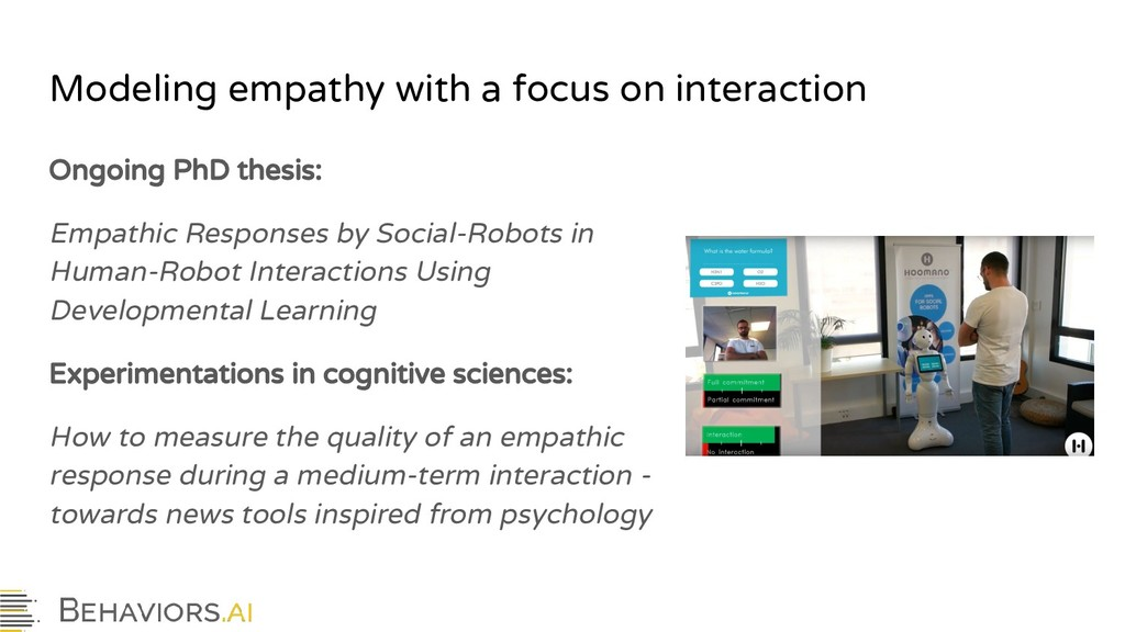 Modeling empathy with a focus on interaction On...