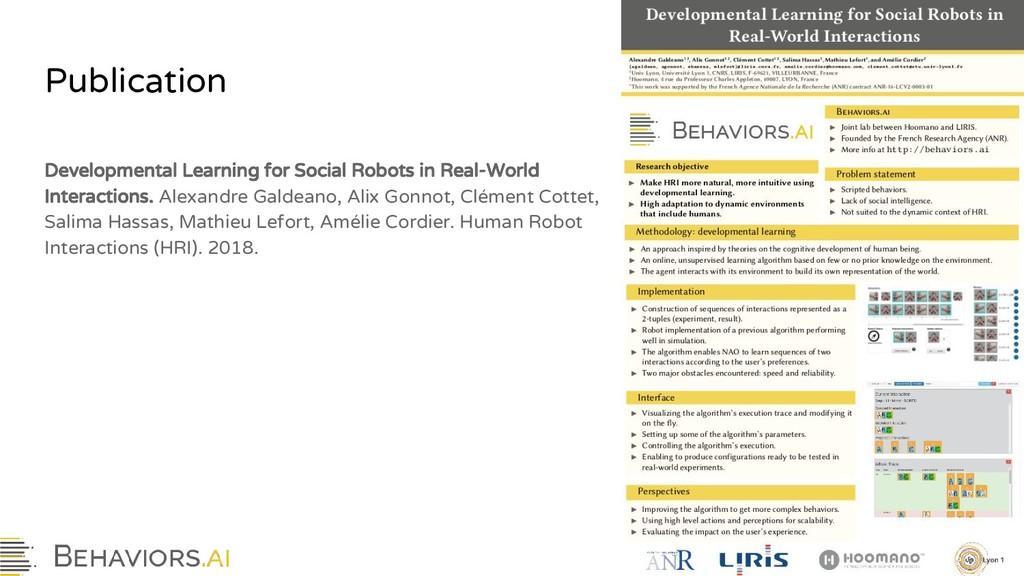 Publication Developmental Learning for Social R...