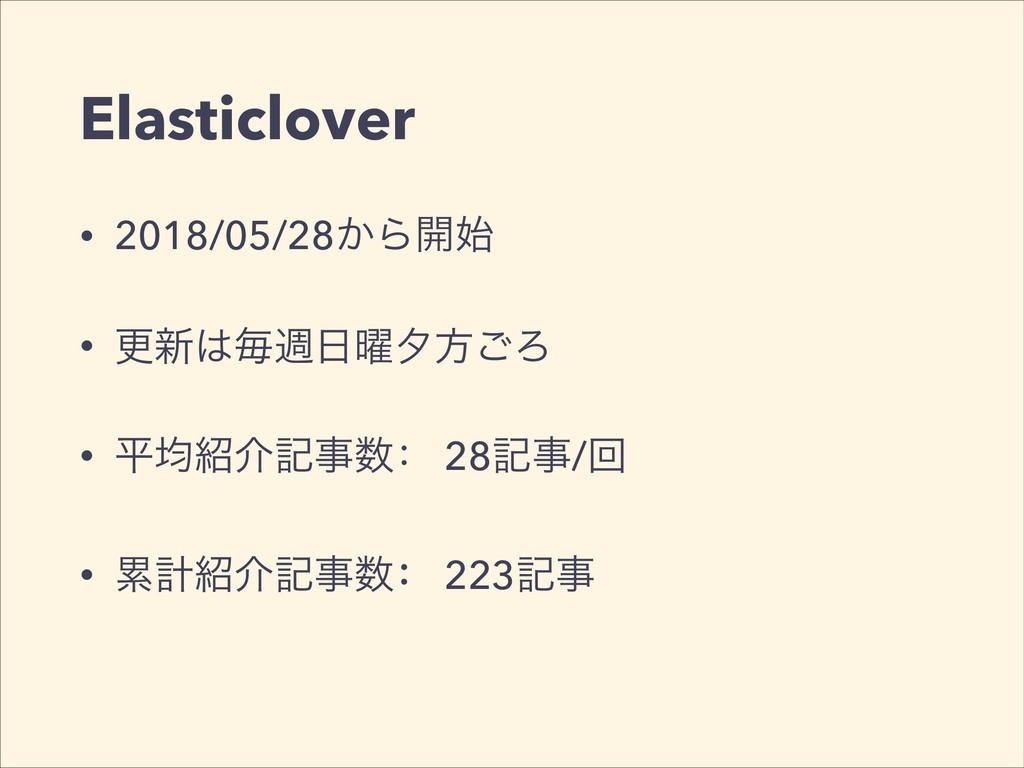 Elasticlover • 2018/05/28͔Β։ • ߋ৽ຖि༵༦ํ͝Ζ •...