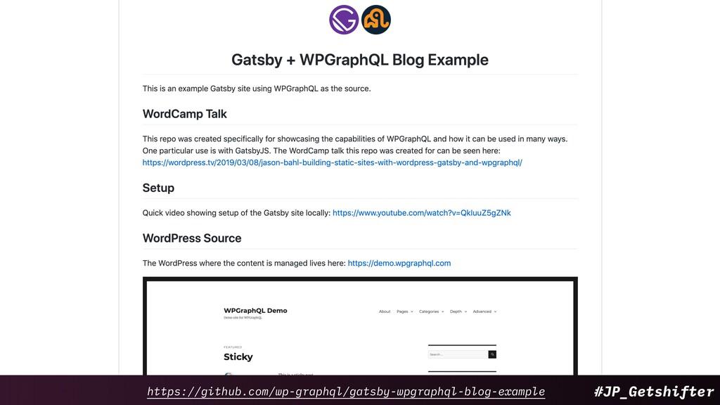 #JP_Getshifter https://github.com/wp-graphql/ga...