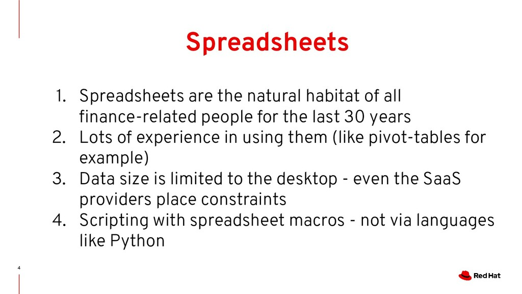4 Spreadsheets 1. Spreadsheets are the natural ...