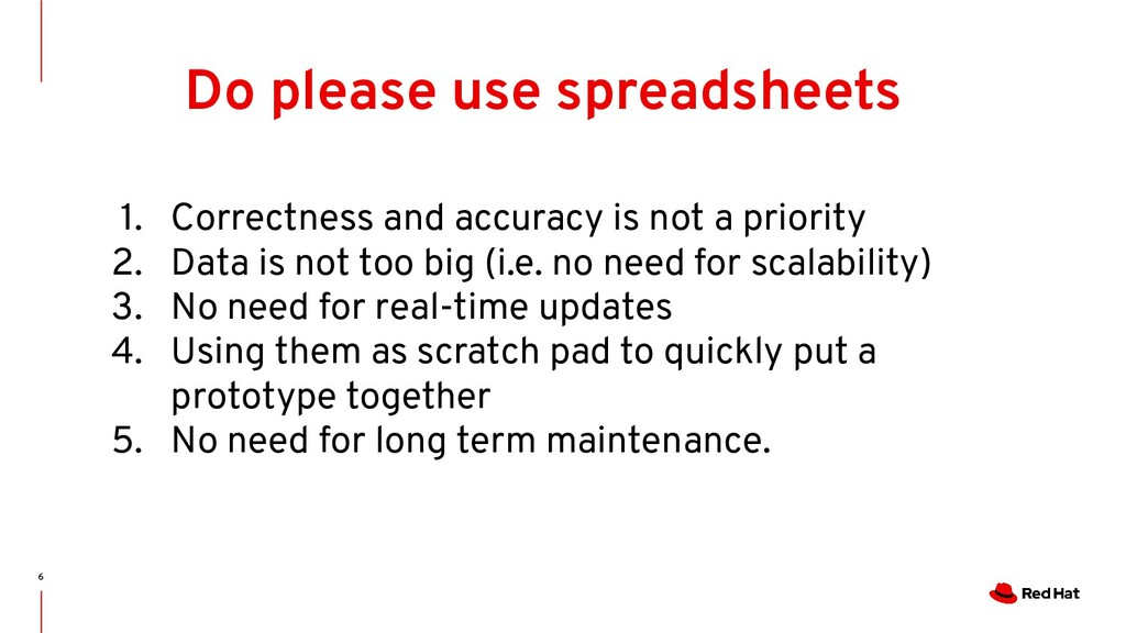6 Do please use spreadsheets 1. Correctness and...