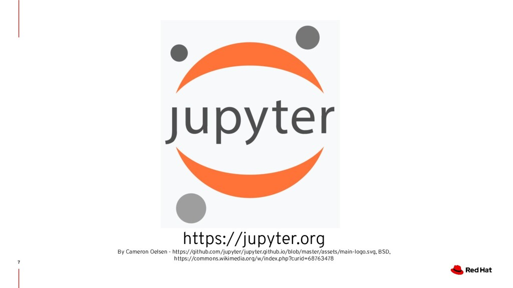 7 https://jupyter.org By Cameron Oelsen - https...