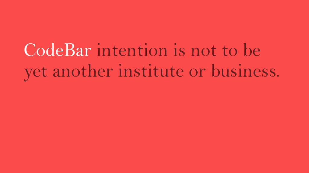 CodeBar intention is not to be yet another inst...