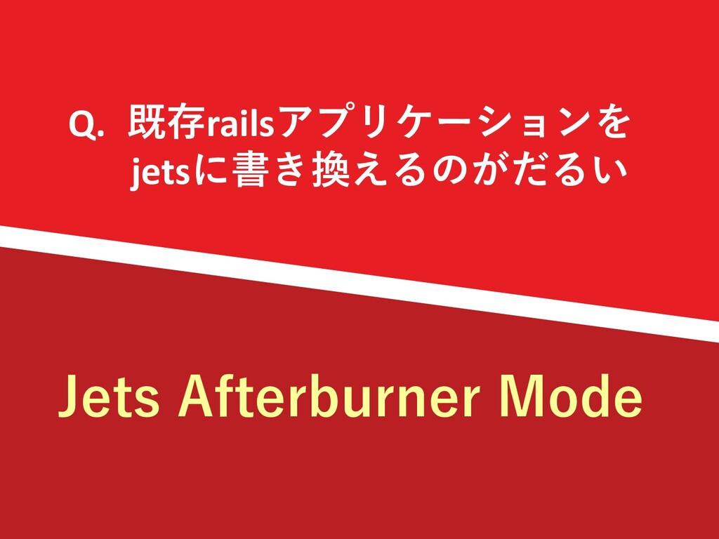 Q. 既存railsアプリケーションを jetsに書き換えるのがだるい Jets Afterb...