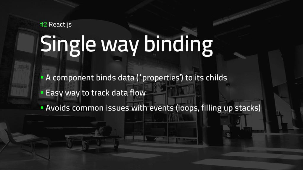 #2 React.js Single way binding §A component b...