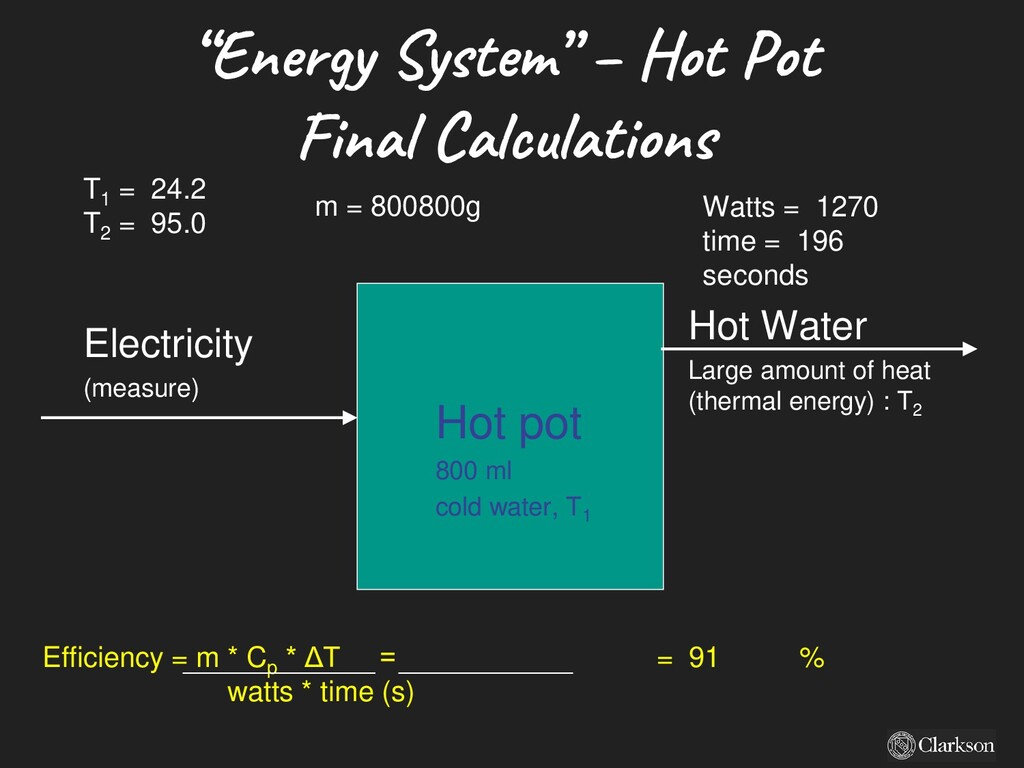 Electricity (measure) Hot pot 800 ml cold water...