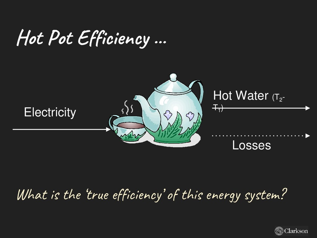 Hot Pot Efficiency ... Electricity Hot Water (T...
