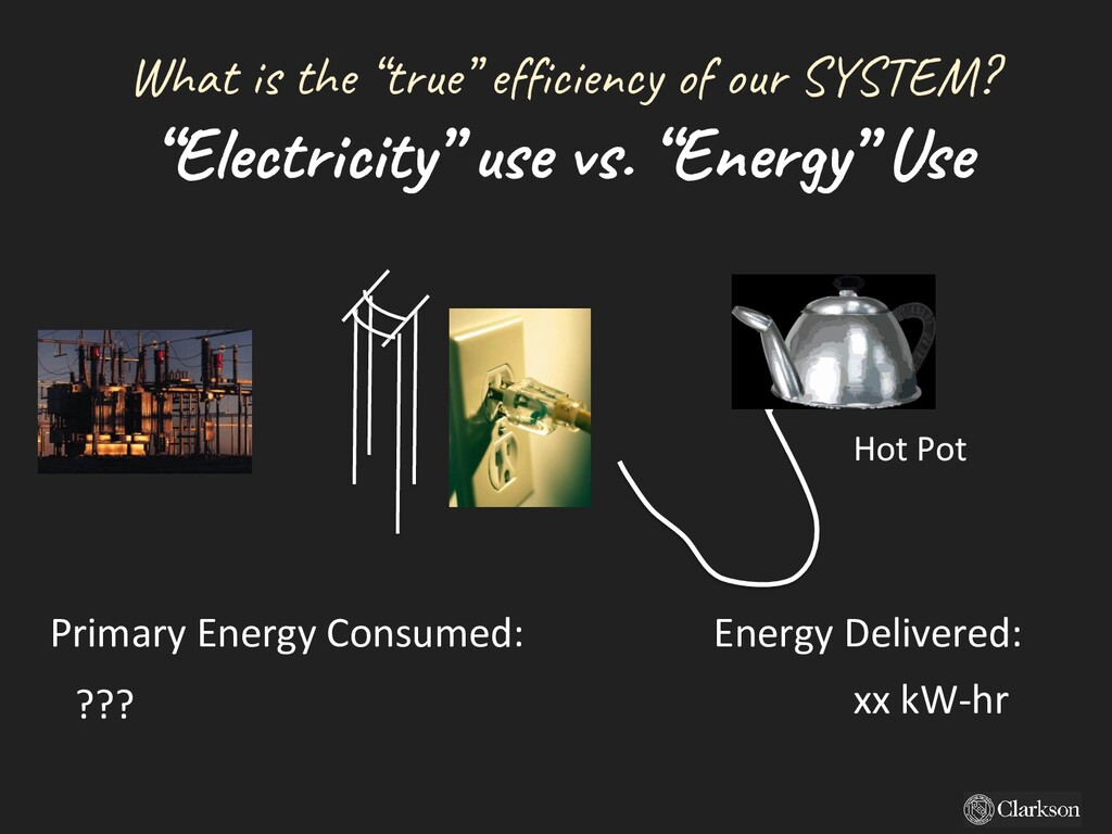 """What is the """"true"""" efficiency of our SYSTEM? """"E..."""