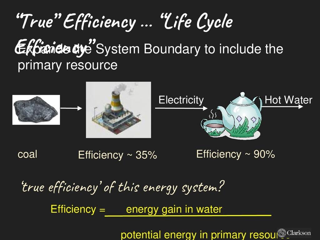 """""""True"""" Efficiency … """"Life Cycle Efficiency"""" Ele..."""