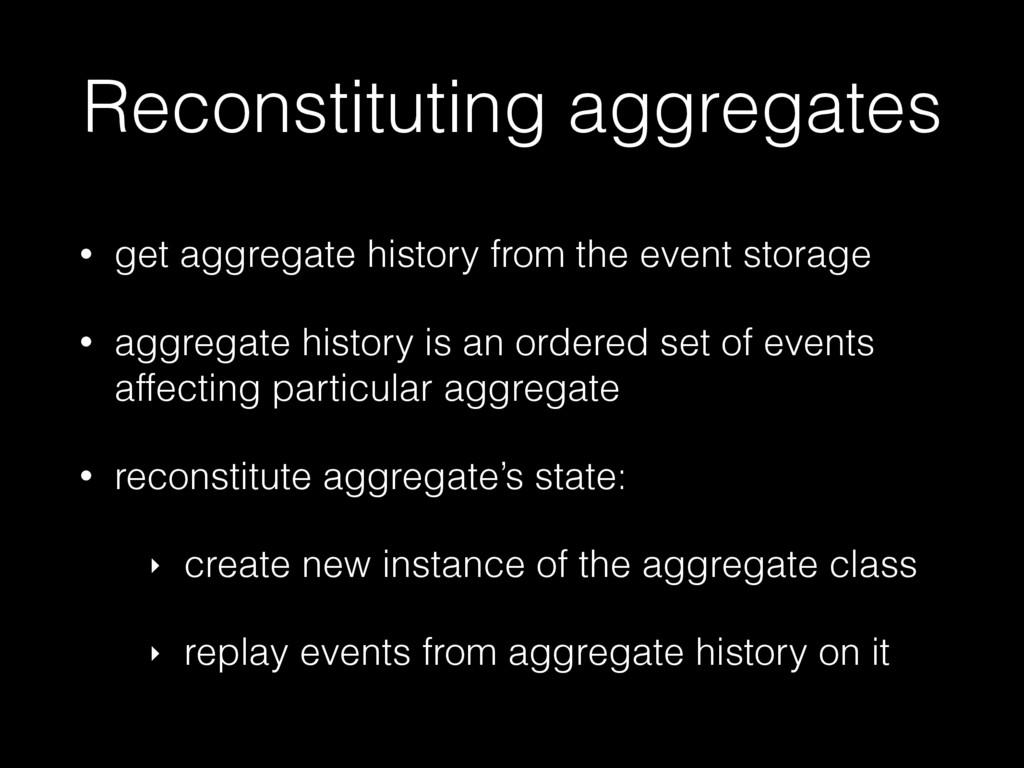 Reconstituting aggregates • get aggregate histo...