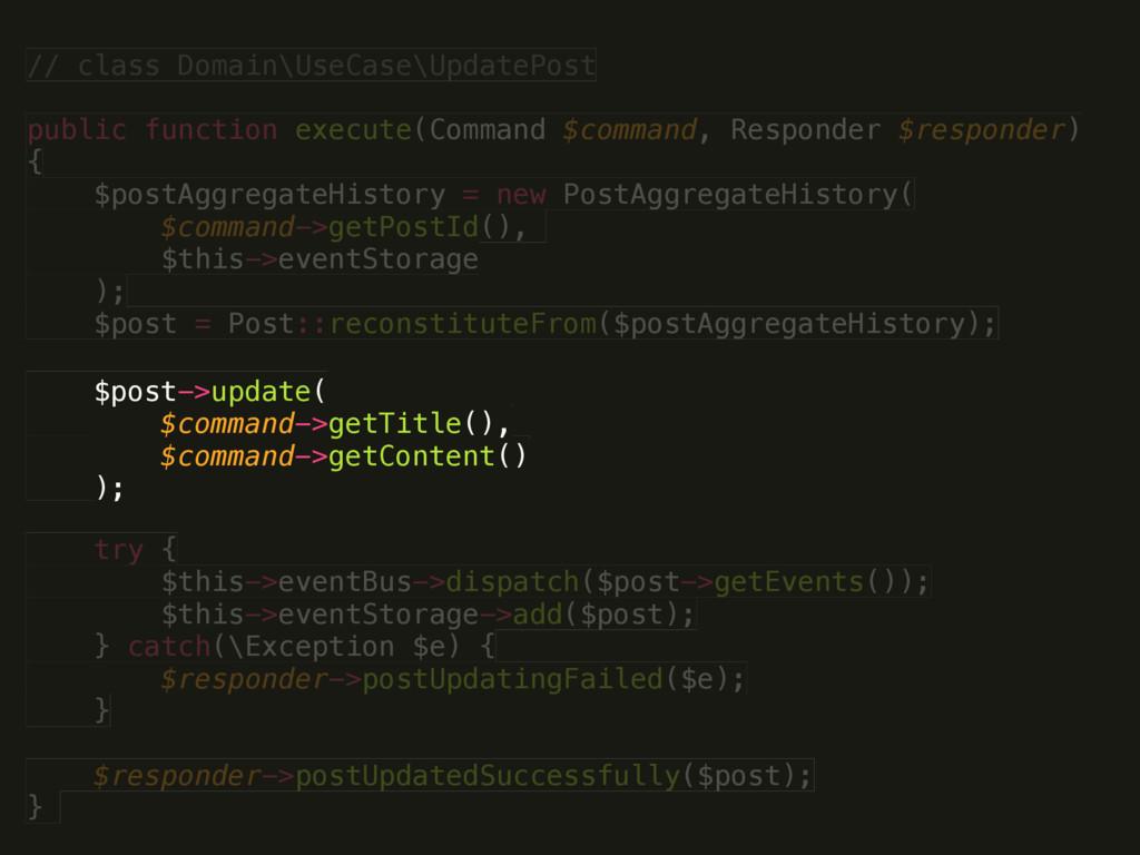 // class Domain\UseCase\UpdatePost  public fun...