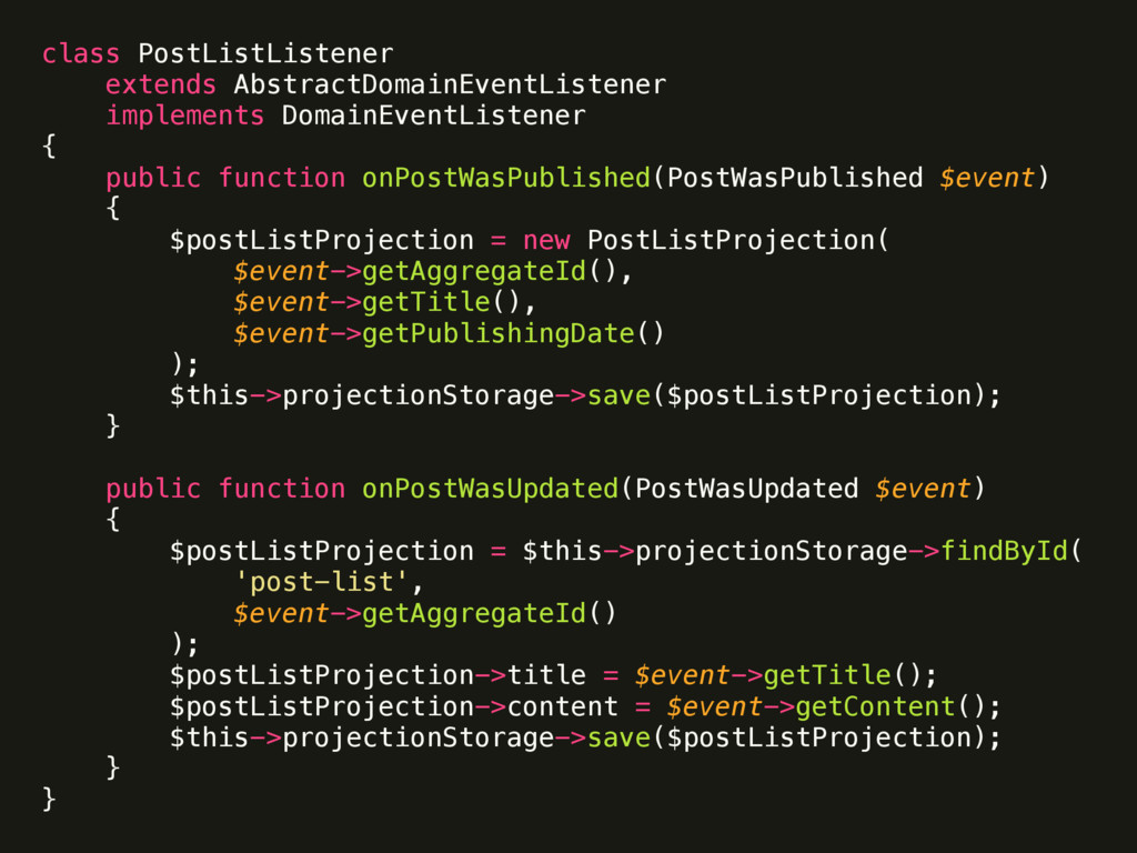 class PostListListener  extends AbstractDomain...