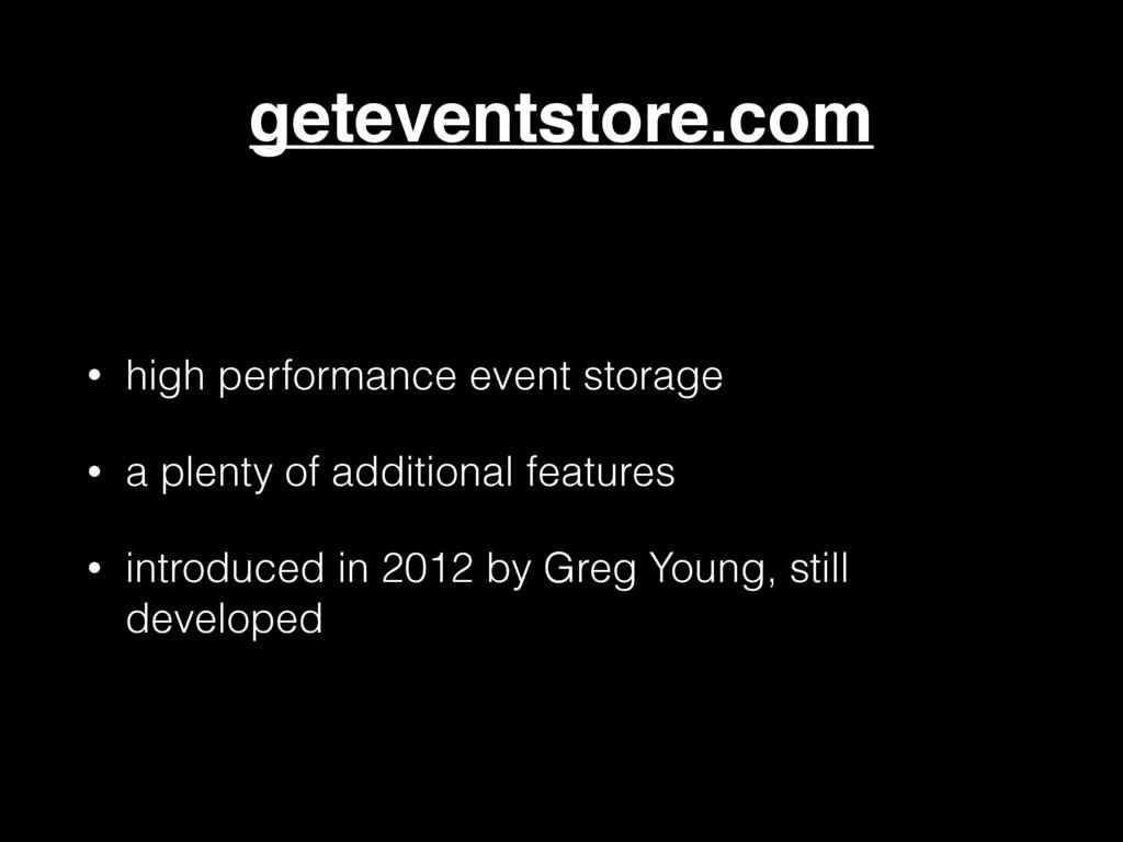 geteventstore.com • high performance event stor...