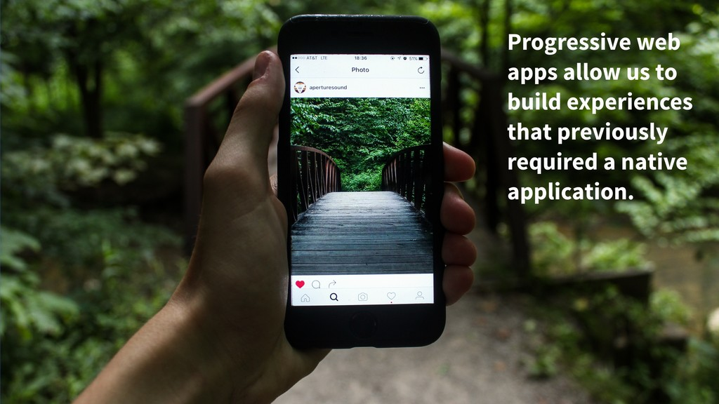 Progressive web apps allow us to build experien...