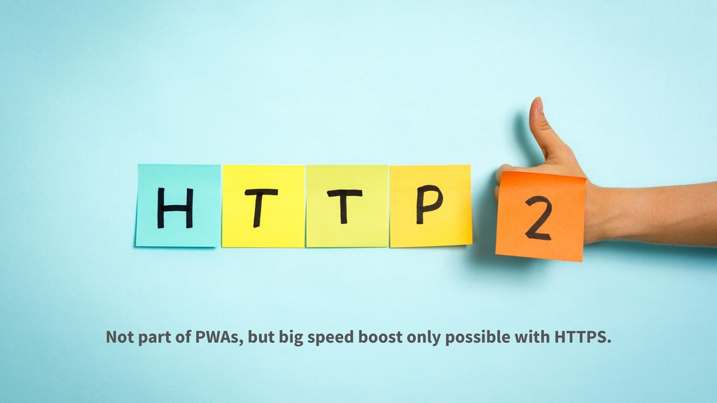 Not part of PWAs, but big speed boost only poss...