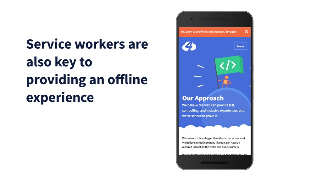 Service workers are also key to providing an off...