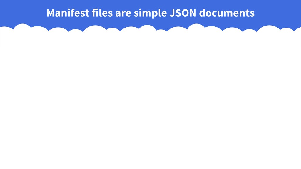 Manifest files are simple JSON documents