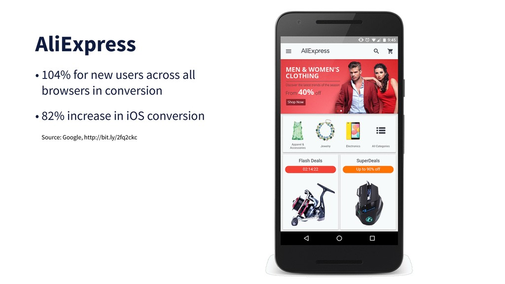 AliExpress • 104% for new users across all brow...
