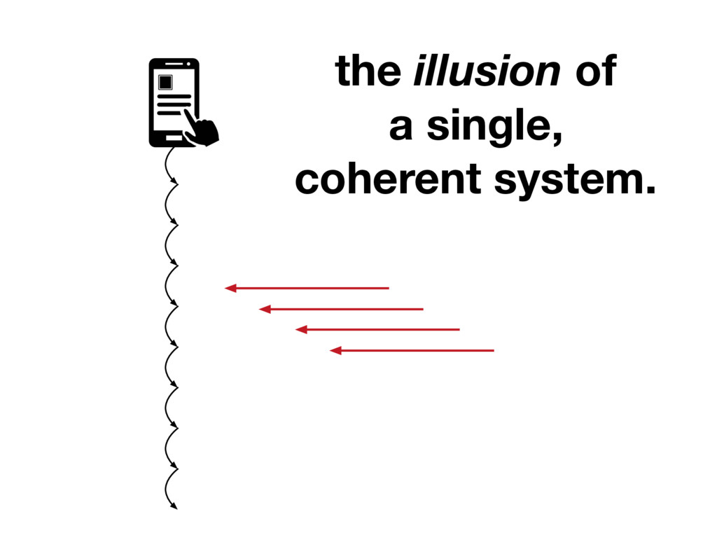 the illusion of a single, coherent system.