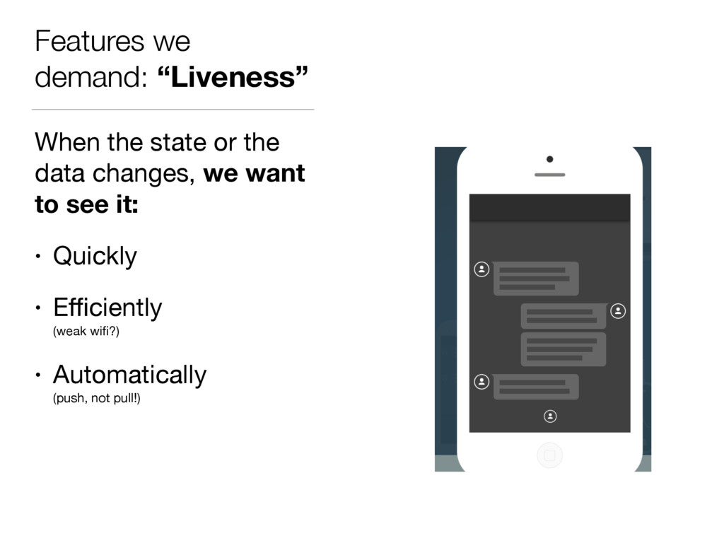 """Features we demand: """"Liveness"""" When the state o..."""
