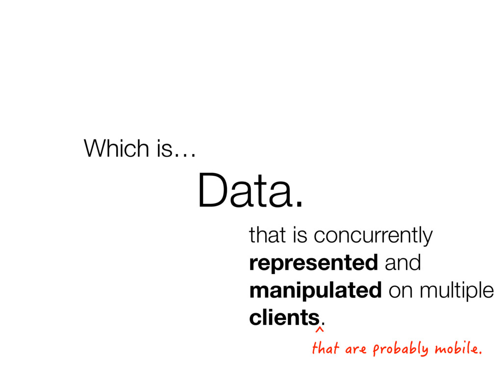 Data. Which is… that is concurrently represente...