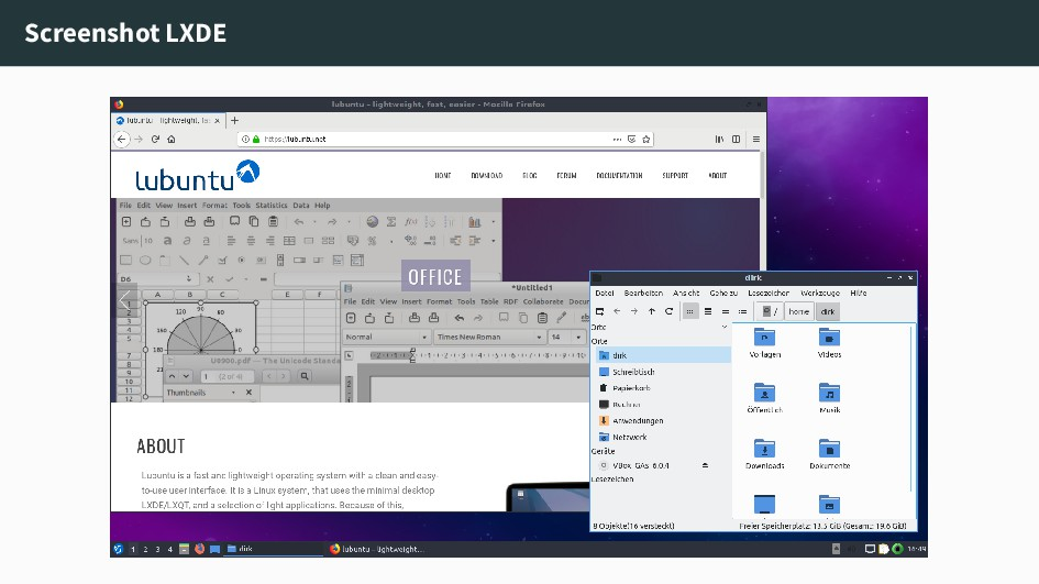 Screenshot LXDE