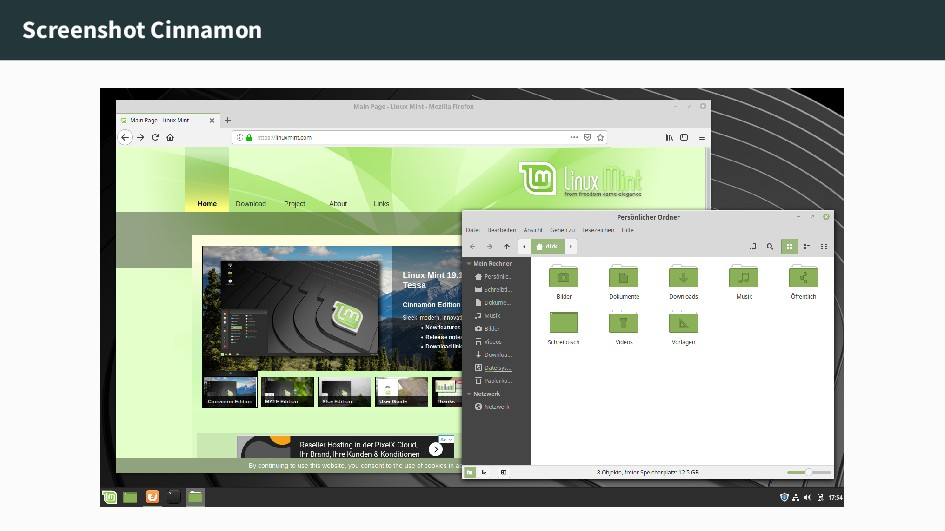 Screenshot Cinnamon