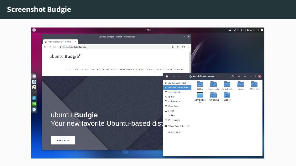 Screenshot Budgie