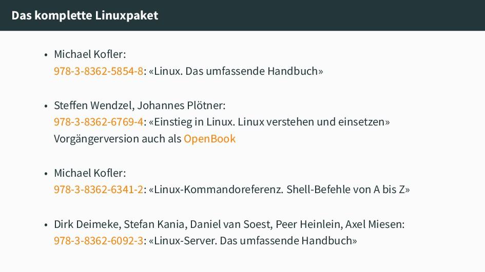 Das komplette Linuxpaket • Michael Kofler: 978-...