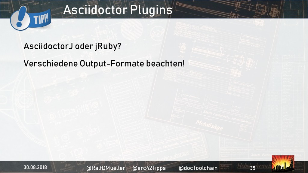 Asciidoctor Plugins AsciidoctorJ oder jRuby? Ve...