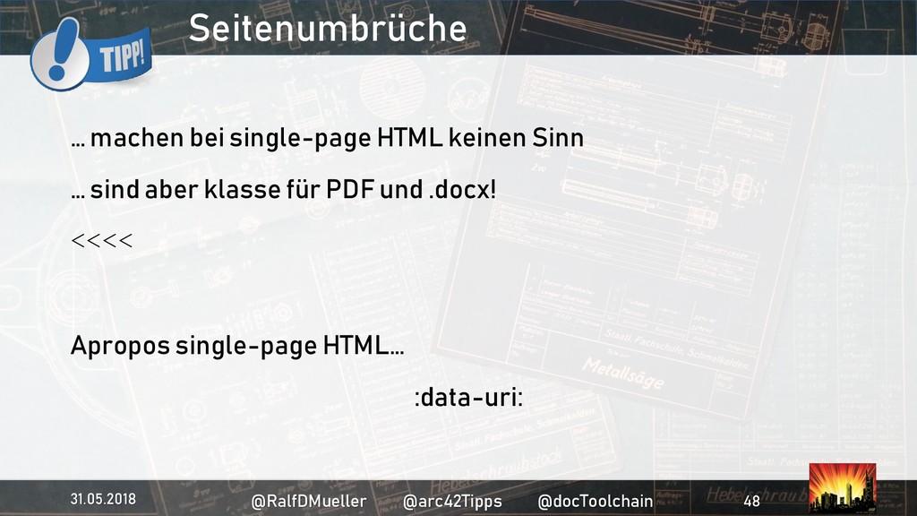 Seitenumbrüche … machen bei single-page HTML ke...