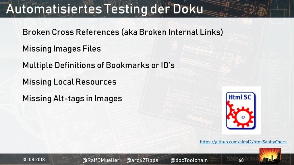 Automatisiertes Testing der Doku Broken Cross R...