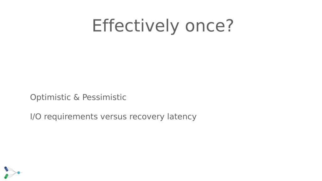 Optimistic & Pessimistic I/O requirements versu...