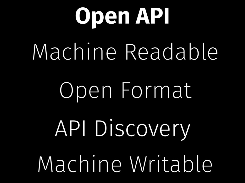 Machine Readable Open Format Machine Writable A...
