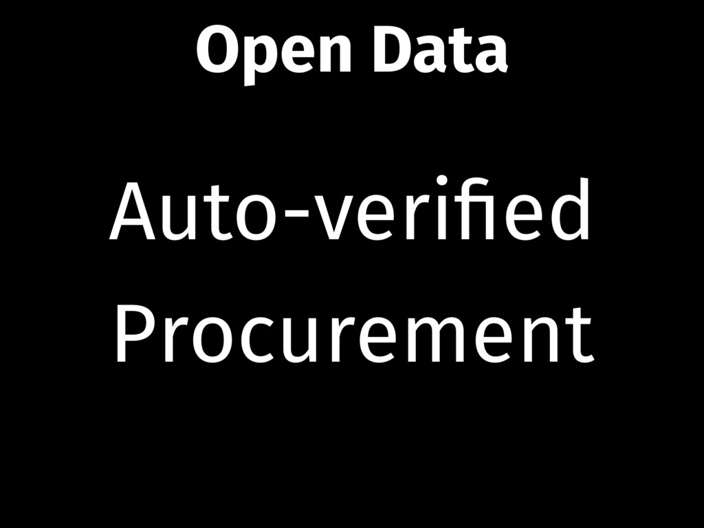 Auto-verified Procurement Open Data