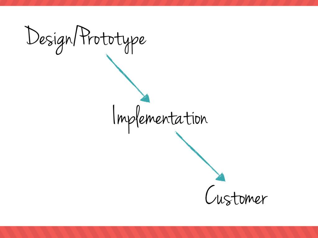 Design/Prototype Implementation Customer