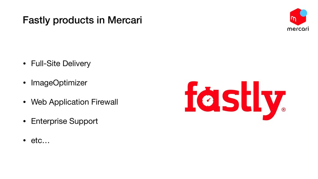 Fastly products in Mercari • Full-Site Delivery...