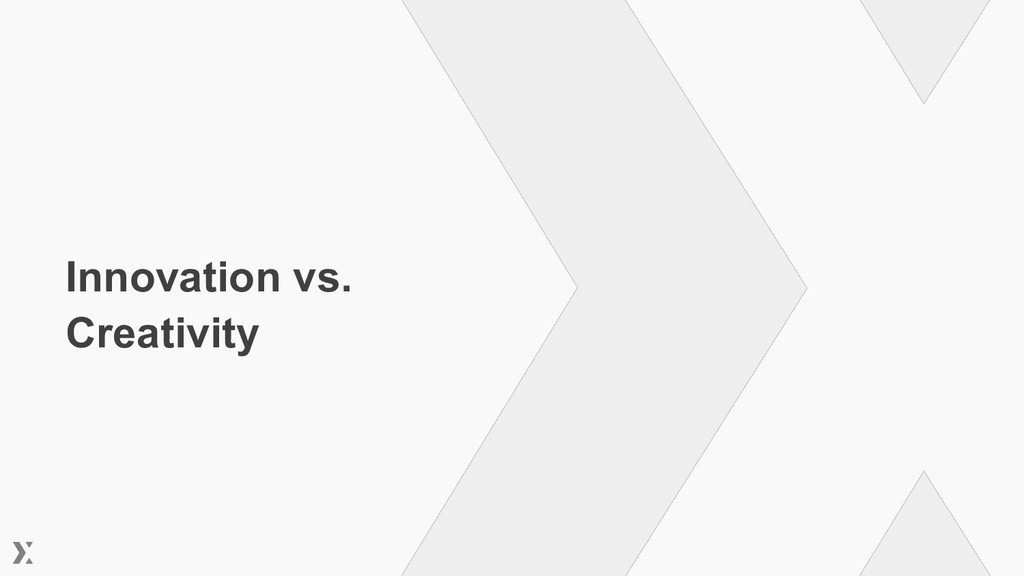 Innovation vs. Creativity