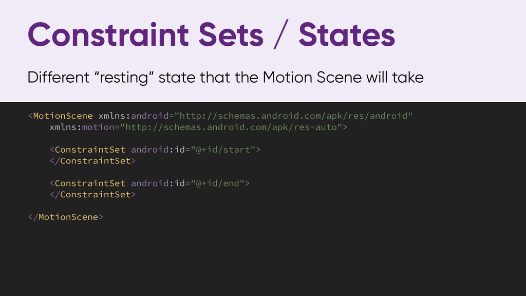 "Constraint Sets / States Different ""resting"" st..."