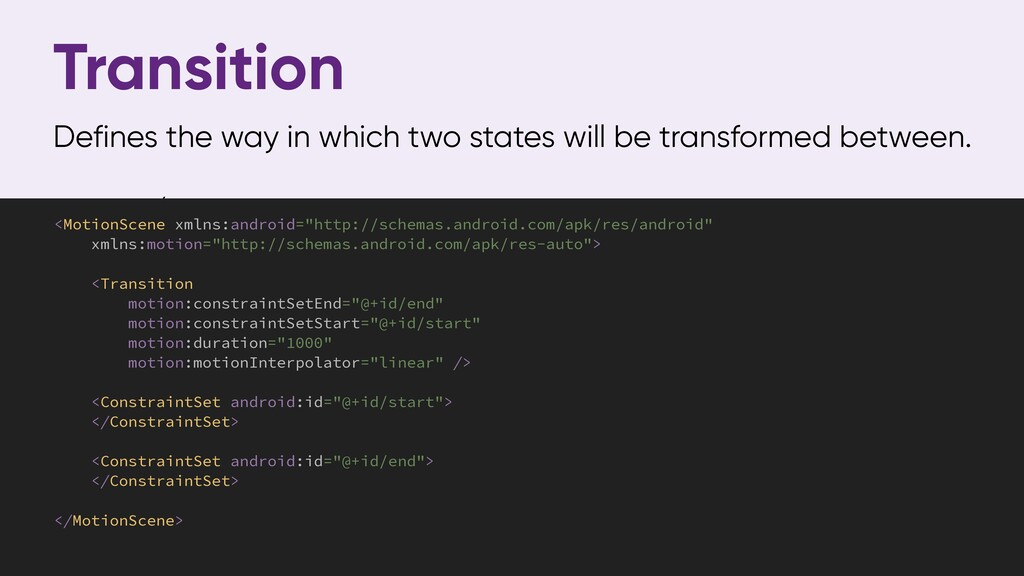Transition Defines the way in which two states ...