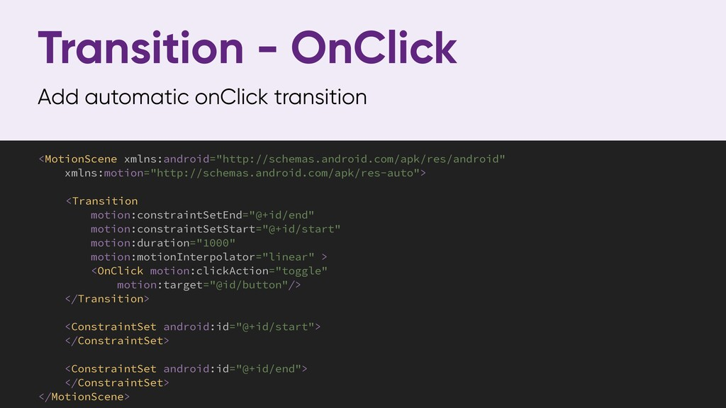 Transition - OnClick Add automatic onClick tran...